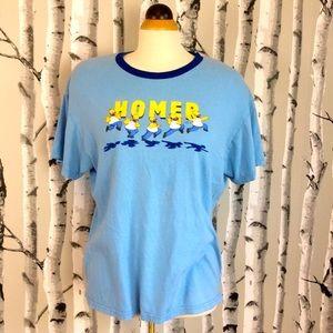 Homer Simpson 2009 Blue T-shirt